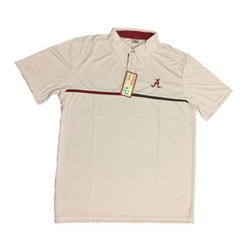 Alabama Crimson Tide White Polo | BAMA White Polo | Alabama Crimson Tide Polo Shirt