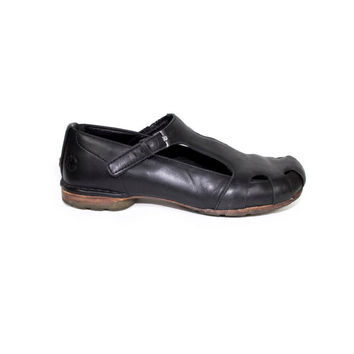 DR MARTENS black leather single strap shoes - mary jane flats - 6 uk - 39 eu - womens 8 us