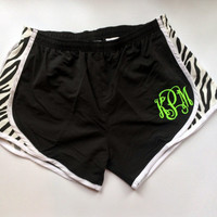Monogrammed Running Shorts Monogram Cheer Shorts Girls Women Bridesmaid gift Personalized Birthday Cheerleader Shorts