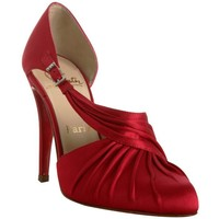 Christian Louboutin Red satin drapinight d'orsay pumps - $219.00