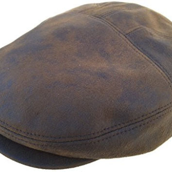 Henschel Faux Suede Ivy Cap (Brown Distressed / Large)