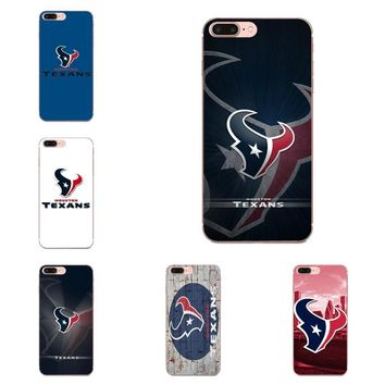 Luxury Vertical Phone Case Houston Texans Football For Sony Xperia Z Z1 Z2 Z3 Z4 Z5 compact Mini Premium M2 M4 M5 T3 E3 E5 XA