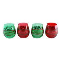 Stemless Wine Glasses Animal Print Holiday Your favorite online gift shop!