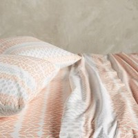 Verdant Sheet Set in Coral Pink