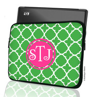 Custom LAPTOP MACBOOK Sleeve Green Lattice Hot by iselltshirts