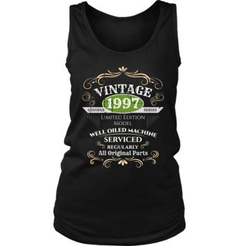Women's Vintage 1997 21st Birthday Tank Top Gift