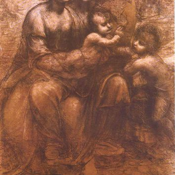 Leonardo da Vinci Virgin and Child with St Anne Poster 24x35