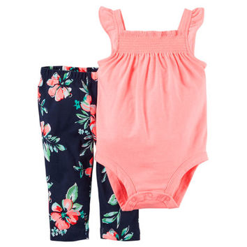 2-Piece Neon Bodysuit & Pant Set
