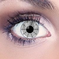 Gothic Contact Lenses | White Web Contact Lenses