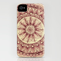mandala: maroon iPhone & iPod Case by Yes Menu