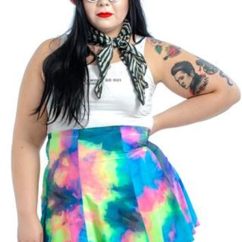 PRE-ORDER: Totally Perfect Tie Dye Mini Skirt - Tunnel Vision