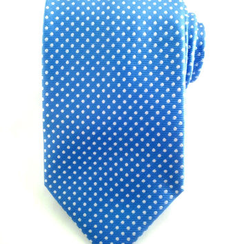Sky Blue with White Polka Dots - Necktie