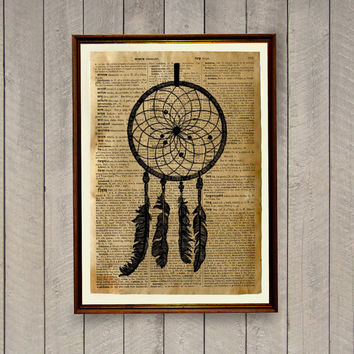 Dreamcatcher poster Native American decor Tribal print