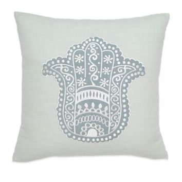 Under the Canopy® Metamorphosis Hamsa Happiness Square Throw Pillow