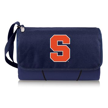 Syracuse Orange 'Blanket Tote' Outdoor Picnic Blanket-Navy Digital Print