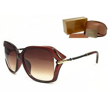 GUCCI Trending Ladies Men Casual Sun Shades Eyeglasses Glasses Sunglasses Black I12382-1