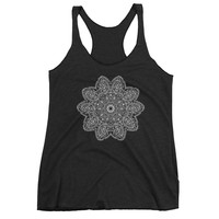 Mandala Tank Top Shirt Bohemian Design Many Colors