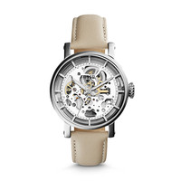 Original Boyfriend Mechanical Bone Leather Watch