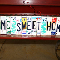 Recycled License Plate Room Decor Sign Wall by 1BentKeepsake