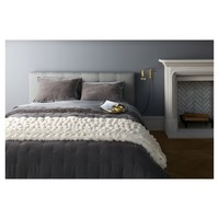 Grey Tufted Velvet Quilt - Fieldcrest®