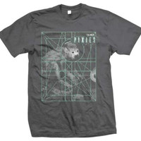 Pixies Monkey Grid T-Shirt - Dark Gray - Medium