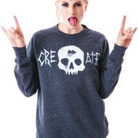 Glamour Kills Use Your Head Crew Sweatshirt Heather Black