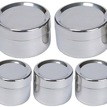 To-Go Ware Stainless Steel Snack Containers - Tiffin Sidekick - 5 Pack