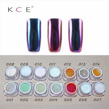 2017NEW,Nail Art Professional Metal nail Polish,Color Manicure Makeup Mirror Chrome Effect Pigment Powder With Brush  nail gel