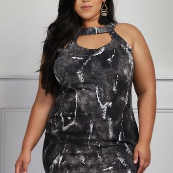 Care For You Plus Size Abstract Cutout Dress Dresses+ GS-LOVE