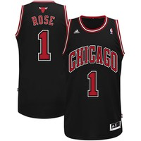 Derrick Rose Chicago Bulls adidas Youth Swingman Alternate Jersey - Black