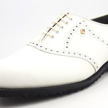 Footjoy Classics New Mens Golf Shoes 10 EEE Leather Spikeless Style 55210 White