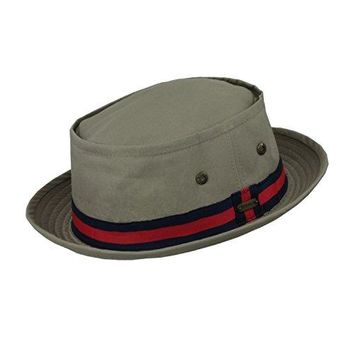 Stetson Men's Water Repellent Brim Fedora w/ Striped Trim