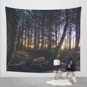 Wooded Tofino Wall Tapestry by Mixed Imagery
