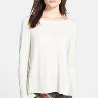Women's Lafayette 148 New York Relaxed Cashmere & Silk Sweater