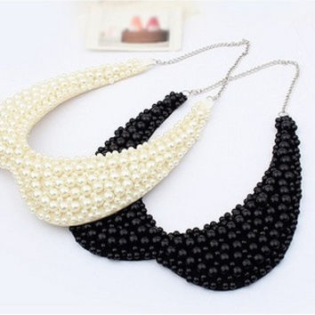 Exclusive High quality Fashion Elegant Multilayer imitation-pearl collar necklace Statement jewelry = 1669048004