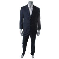 Calvin Klein Mens Wool Lined Two-Button Suit