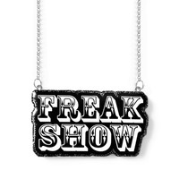 Freak Show Resin Necklace - Rockabilly Psychobilly Alternative Fashion Jewelry