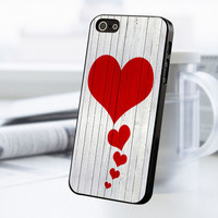 Wood Heart Love iPhone 5 Or 5S Case
