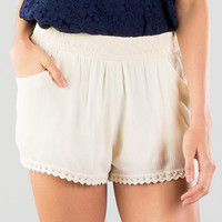 Tiki Crochet Trimmed Shorts