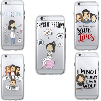 Medical Industry Nurse Case Funda for iPhone 6 6S 7 6Plus 7Plus 5S SE Soft Silicone Clear Transparent TPU Back Cover Coque Shell