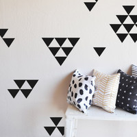 Medium Solid Triangles Wall Decal