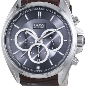 Hugo Boss Anthracite Dial SS Chronograph Quartz Mens Watch 1513035