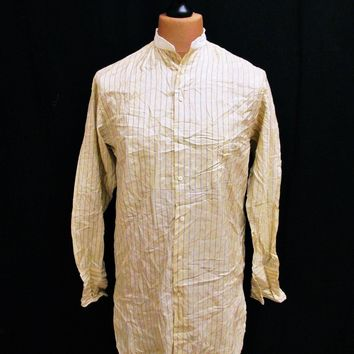 Vintage 1990s Ralph Lauren Kaftan Striped Shirt XL Tall