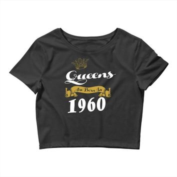 queens are born in 1960 Crop Top