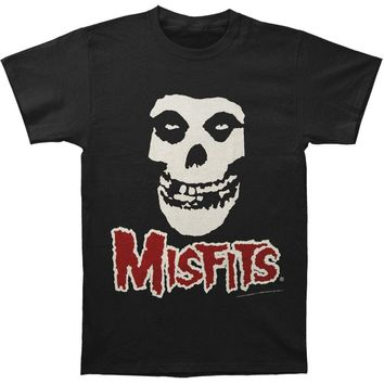 Misfits Men's  Fiend Skull Red Logo Men's Tee Slim Fit T-shirt Black