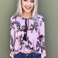 Sweet Goodbyes Top- Pink