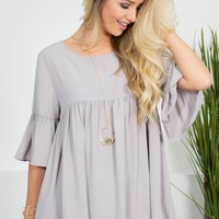 Flutter Stone Babydoll Top
