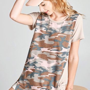Oddi Camo Side Tie Top