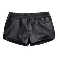 Shorts in Imitation Leather - from H&M