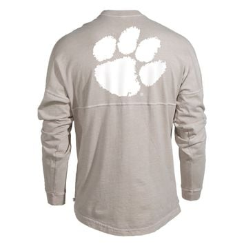 Official NCAA Venley Clemson University Tigers TIGER RAG! Women's Long Sleeve Spirit Wear Jersey T-Shirt